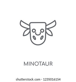 Minotaur linear icon. Modern outline Minotaur logo concept on white background from Fairy Tale collection. Suitable for use on web apps, mobile apps and print media.