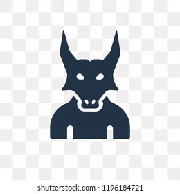 Minotaur vector icon isolated on transparent background, Minotaur transparency concept can be used web and mobile