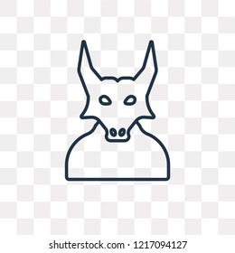 Minotaur vector outline icon isolated on transparent background, high quality linear Minotaur transparency concept can be used web and mobile