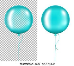 Mint Balloons Gradient Mesh, Vector Illustration