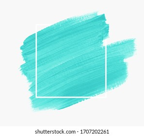 Mint brush paint background vector. Perfect design for headline, logo and sale banner.