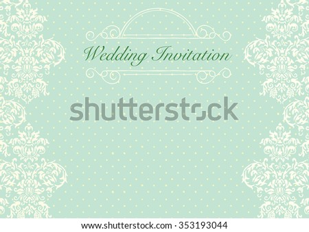 Mint Green Wedding Invitations | Mint Green Wedding Invitation Background Stock Vector Royalty Free