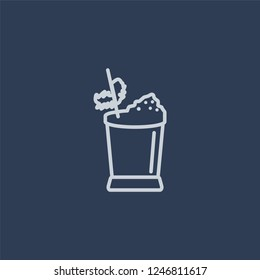 Mint Julep icon. Mint Julep linear design concept from Drinks collection. Simple element vector illustration on dark blue background.