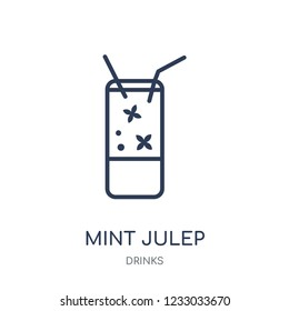 Mint Julep icon. Mint Julep linear symbol design from drinks collection. Simple outline element vector illustration on white background