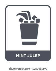 mint julep icon vector on white background, mint julep simple element illustration