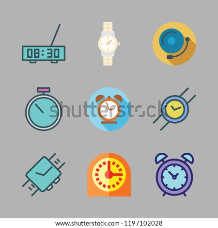 Minute Icon Set Vector Set About Alarm Bell Timer Alarm Clock And Wris Ch