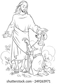 Free Jesus Heals A Man By The Pool Coloring Page, Download Free ... | 280x191