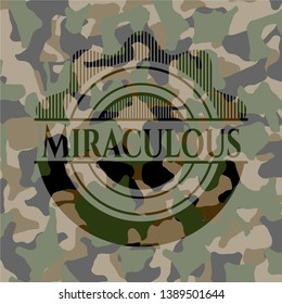 Miraculous camouflaged emblem. Vector Illustration. Detailed.