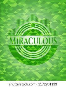 Miraculous green mosaic emblem
