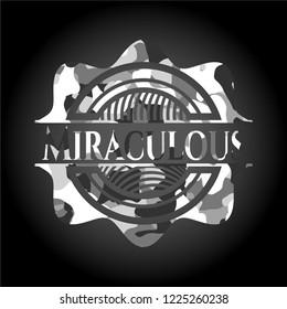Miraculous grey camo emblem