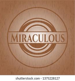 Miraculous realistic wooden emblem