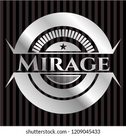 Mirage silvery badge or emblem