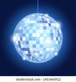 mirror disco ball music party retro