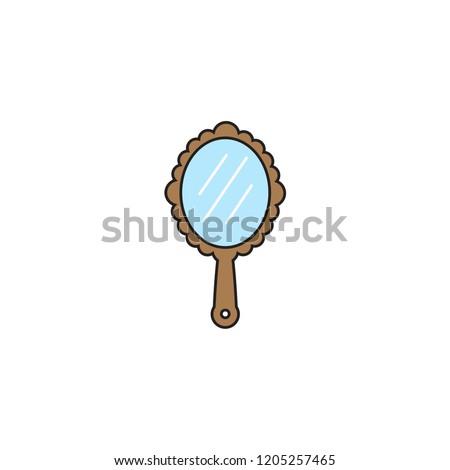 mirror icon template design stock vector royalty free 1205257465