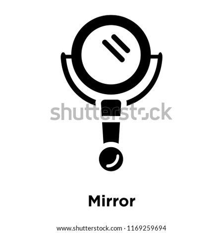 Mirror Icon Vector Isolated On White Stock Vector Royalty Free
