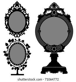 Mirror Ornate Vintage Retro Princess