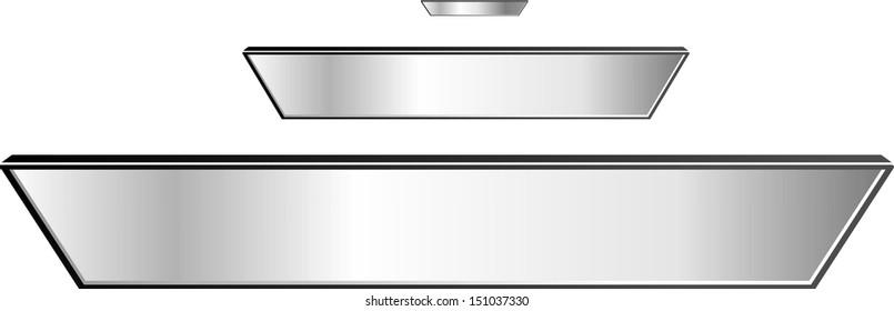 Mirror reflectors set
