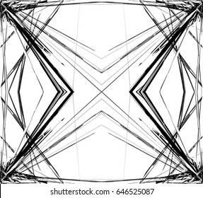Mirrored grid, mesh abstract geometric pattern / element