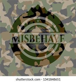 Misbehave camouflage emblem