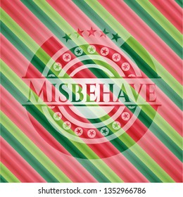 Misbehave christmas badge background.