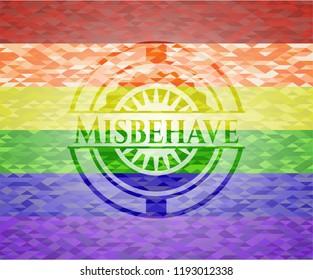 Misbehave lgbt colors emblem