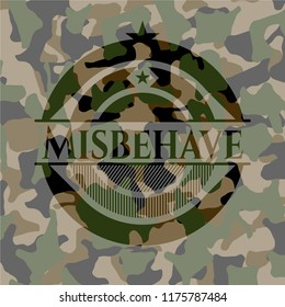 Misbehave on camouflaged texture