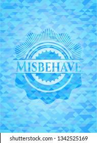 Misbehave realistic sky blue mosaic emblem