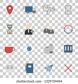 Misc icons set simple flat style vector illustration isolated