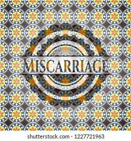 Miscarriage arabesque emblem background. arabic decoration.