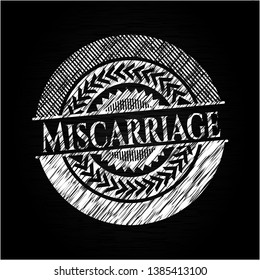 Miscarriage chalkboard emblem. Vector Illustration. Detailed.