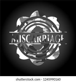 Miscarriage grey camo emblem