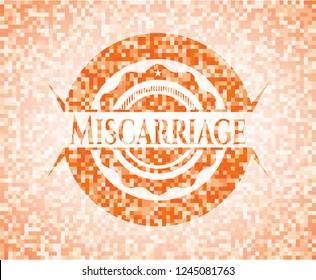 Miscarriage orange mosaic emblem with background