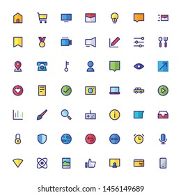 Miscellaneous Icon Set Filled Outline 32 px