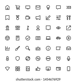 Miscellaneous Icon Set Outline 32 px