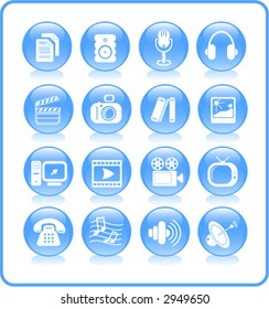 Miscellaneous multimedia icons