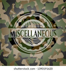 Miscellaneous on camo pattern. Vector Illustration. Detailed.