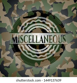 Miscellaneous on camo texture. Vector Illustration. Detailed.