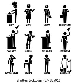 Miscellaneous Profession Icon Set Sign Symbol
