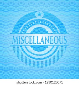 Miscellaneous water wave badge.