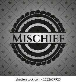 Mischief dark emblem. Retro