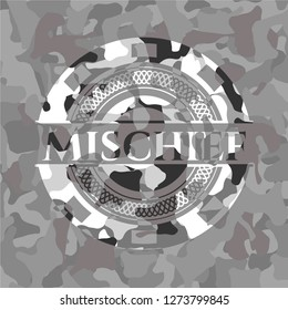 Mischief on grey camo pattern