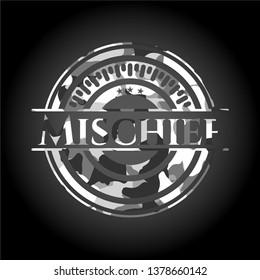Mischief on grey camouflaged pattern