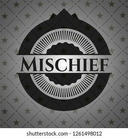 Mischief retro style black emblem