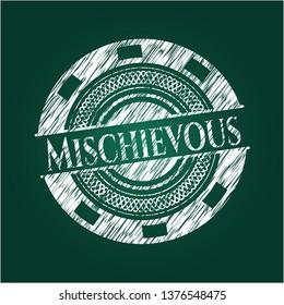 Mischievous chalk emblem