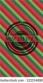 Mischievous christmas style emblem.