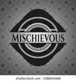 Mischievous dark emblem. Vector Illustration. Detailed.