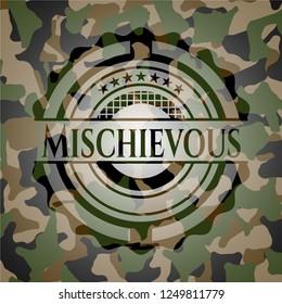 Mischievous on camouflaged texture