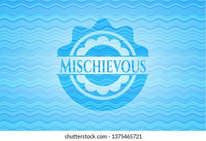 Mischievous water concept badge.