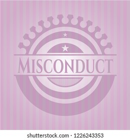 Misconduct badge with pink background