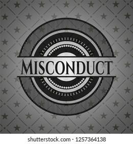 Misconduct black emblem